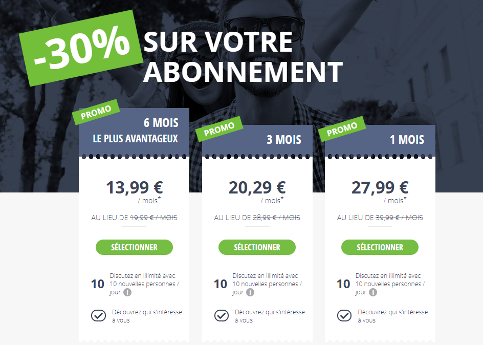 tarifs meetic promo