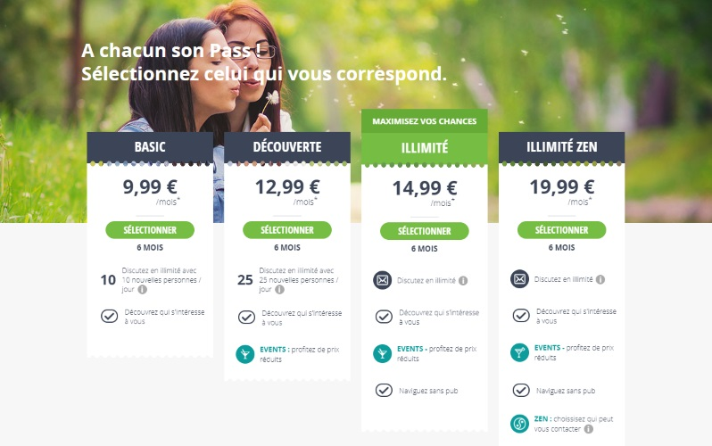 Tarifs meetic abonnements